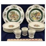 Wedgwood Patrician Set and 2 Ironstone Plates
