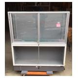 Glass lighted store display case
