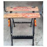 Workmate style folding workbench