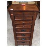 Cherry finish jewelry armoire