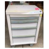 Lionville four drawer locking rolling cabinet