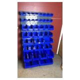 Wall mount organizer bin unit