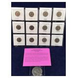12 Nickels includes 6 Brilliant Uncirculated