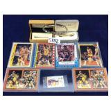 Vintage Magic Johnson cards and men's jewelry