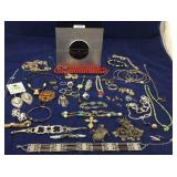 Jewelry box of costume jewelry