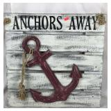 Anchors Away Wood Sign
