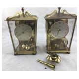 Pair of Small Schwartz German Carriage Clocks