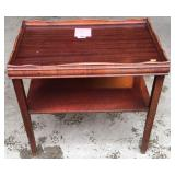 Walnut mahogany formica top side table