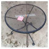Metal outdoor patio table