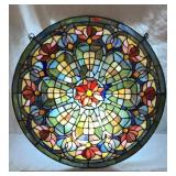 Circular Leaded Stained Glass Window Hanging