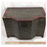 Medium Wood Trinket Box with Velvet Interior