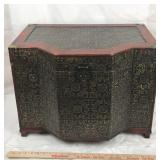 Large Wood Trinket Box with Velvet Interior
