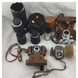 Vintage Cameras, Lenses, & Exposure Meter