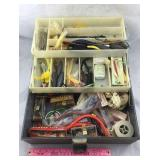 Tackle Box with Vintage Lures