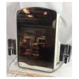 Retro Mirrored Medicine Cabinet with Side Lights