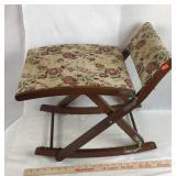Folding Upholstered Rocking Seat