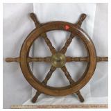 Solid Wood Nautical Ship Wheel