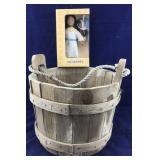 Wooden Bucket Plus Boxed Sacagawea Doll