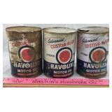 Vintage Havoline Motor Oil Cans