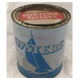 Vintage Delicious Oysters Can (Coles Point, VA)