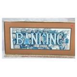 Cartoon Banking Lithograph