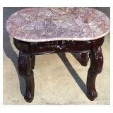 Pink Marble Top End Table