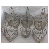 6 Wire Heart Shaped Baskets