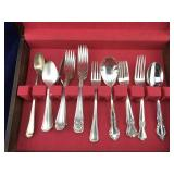 Silverware Chest of Mixed Flatware