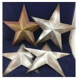 4 Metal Decorative Stars