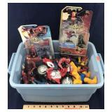 Bin Full of Super Hero Action Figures