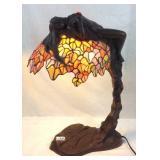Bronze Art Nuevo Reclining Nude Tiffany style lamp