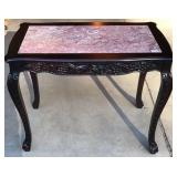 Pink Marble Inlaid Table