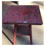 Old painted table
