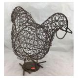 Metal Chicken Figure