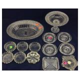 Crystal & Pressed Glass Dishes, Ashtrays