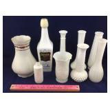 Mitterteich Vase & Milk Glass Vases