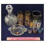 Cambridge Poppy Dish, Glass Decanter, & More
