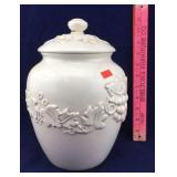 White Inspirado Ceramic Jar