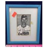 Framed Cal Abrams Autograph