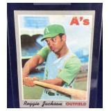 Reggie Jackson 1970 Topps 140 Baseball Card