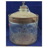 Old Glass Kerosene Bottle
