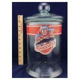 Vintage Glass Peppermint Jar