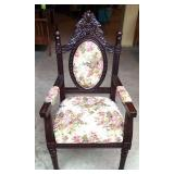 Brand new upholstered throne style Armchair