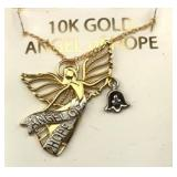 10K Gold Angel Of Hope 18 Inch Necklace