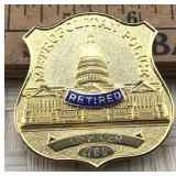 Gold Tone Retired Metropolitan Police Officers