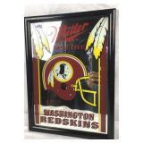 Vintage miller high life Redskins beer mirror