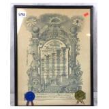 1955 freemasons Scottish rite certificate