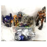 Large box of transformers toys