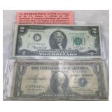 Bicentennial $2 Note and Series 1935E Silver