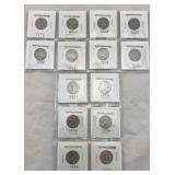 14 Buffalo Nickels